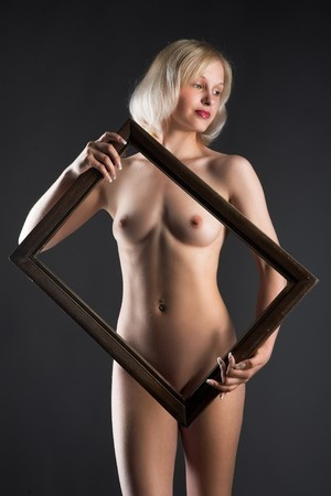 nude woman frame